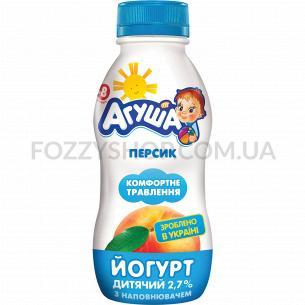Йогурт Агуша детский персик с 8 месяцев 2,7%