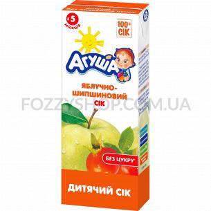 Сок Агуша яблоко-шиповник осветленный 0%