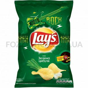 Чипсы Lay`s картофельные со вкусом молодого зеленого лука 133г