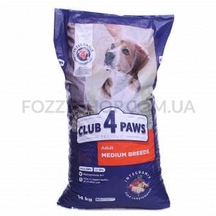 Корм для собак Club 4 Paws средних пород сухой