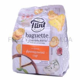 Сухарики Flint Baguette пшен вкус французкий сыр
