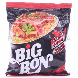 Лапша Big Bon Говядина + соус томатный с базиликом