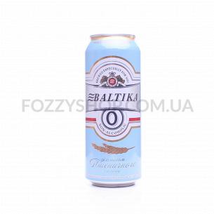 Пиво Балтика №0 вкус пшенич солода светлое б/а ж/б