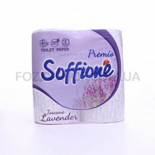 Бумага туалетная Soffione Toscana Lavender 3-слой