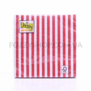 Салфетки Daisy с рисунком бумажные 3-слойные D-24