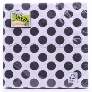 Салфетки Daisy с рисунком бумажные 3-слойные D-28