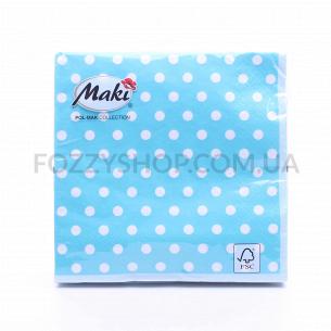 Салфетки Maki с рисунком бумажные 3-слойные M-18