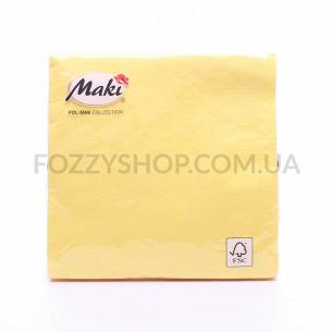 Салфетки Maki с рисунком бумажные 3-слойные M-25