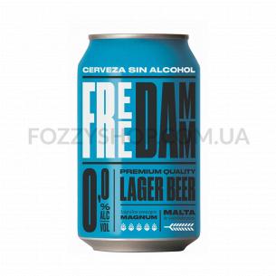 Пиво Damm Free светлое безалкогольное ж/б