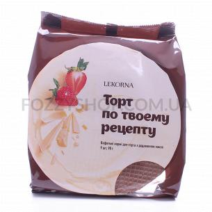 Коржи вафельные Lekorna д/торта с добавлен какао
