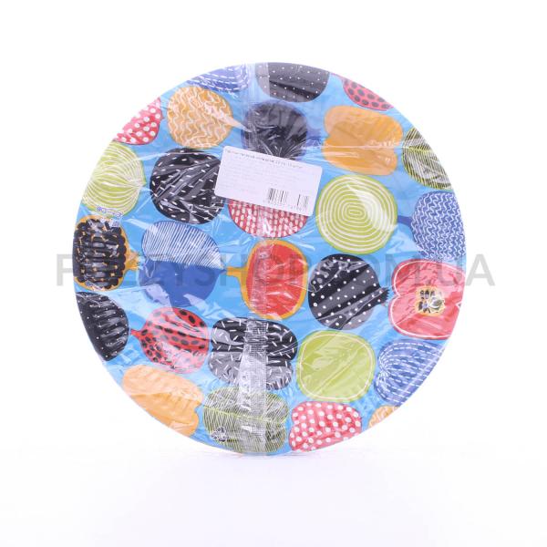 Тарелки бумажные цветные 23см
