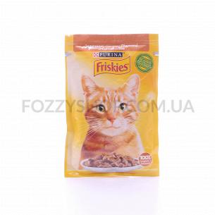 Корм для котов Friskies с индейкой в підливке