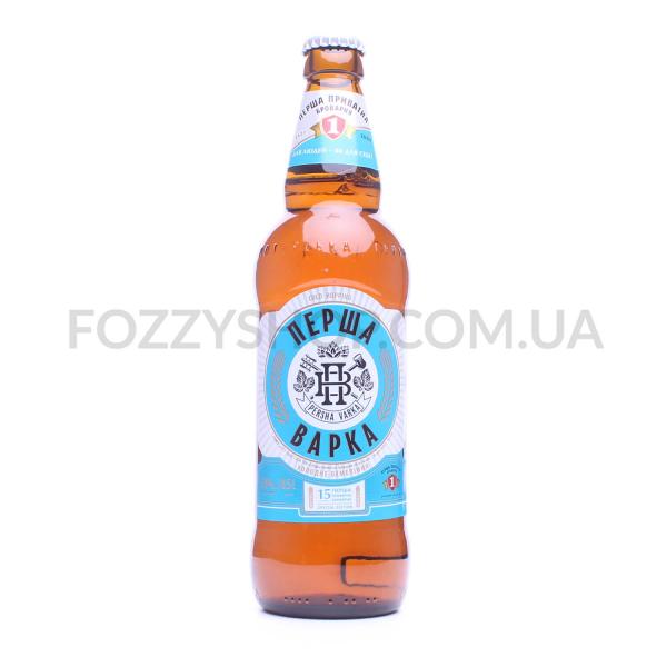 Пиво Перша приватна броварня Первая варка светл 5%