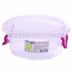 Контейнер пищевой Ал-Пластик круглый 0.6л