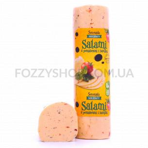 Сыр Serenada Салями томат-базилик 45% кор/мол