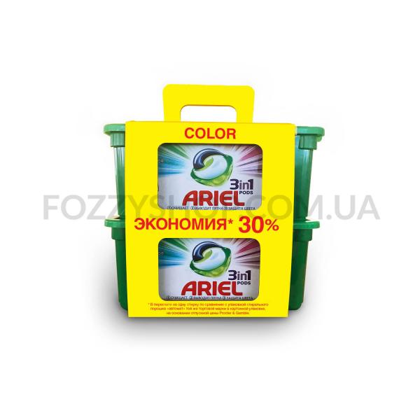 Капсулы для стирки Ariel 3 в 1 Color 2 х 30 шт