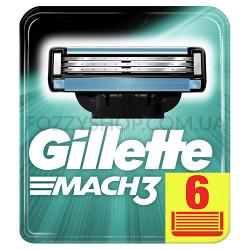 Сменные картриджи для бритья Gillette Mach 3, 6 шт