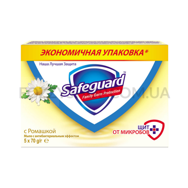 Safeguard антибактериальное мыло Ромашка 5×70г