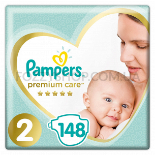 Подгузники Pampers Premium Care New Baby Размер 2 (Mini)  4-8 кг, 148 шт.