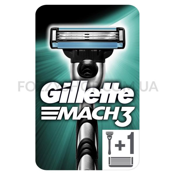 Бритва Gillette Mach 3 с 2 сменными картриджами