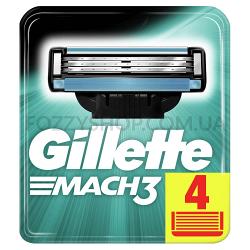 Сменные картриджи для бритья Gillette Mach 3 (4 шт)