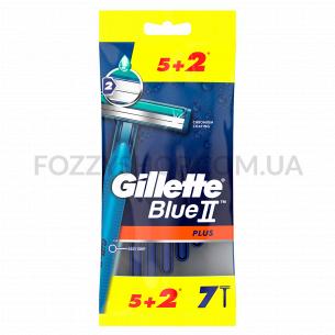 Бритвы одноразовые Gillette Blue 2 Plus  5+2 шт.