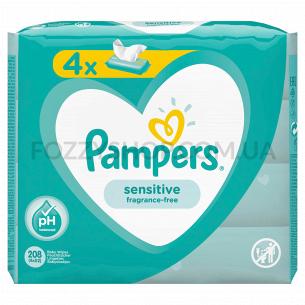 Cалфетки Pampers Sensitive 4x52 ПрК