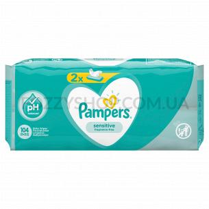 Cалфетки Pampers Sensitive 2x52 ПрК