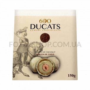 Конфеты 600 Ducats с какао-крем-кокос в бел/шокол