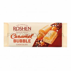 Шоколад белый Roshen карамельный пористый