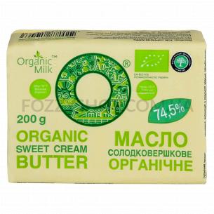 Масло сладкослив Organic Milk Крестьян орган 74,5%