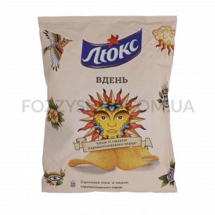 Чипсы Люкс картофельные вкус карамелизирован перца