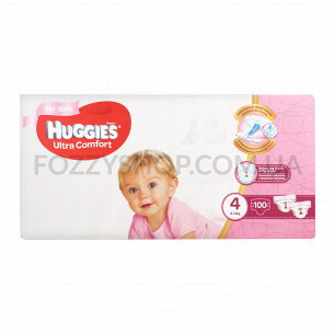 Подгузки Huggies Ultra Comfort Box Girl 4 8-14кг