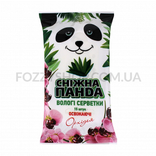 Салфетки влажные для рук Сніжна панда Орхидея