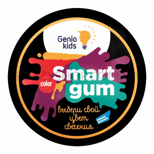 Пластилин Genio Kids Smart gum цветн свечение HG06