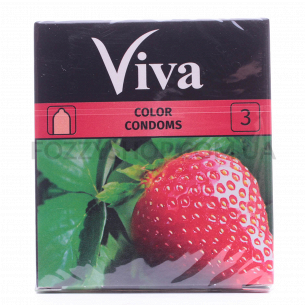 Презервативы Viva цветные ароматизированные латекс