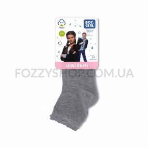 Носки для девочки Boy&Girl 413 светло-серые р.16-18