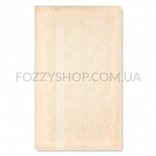 Полотенце махровое Saffran бордюр кремовый 50х90
