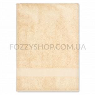 Полотенце махровое Saffran бордюр бежевый 70х140 500г/м