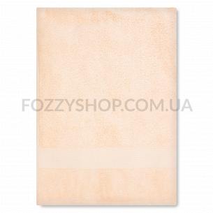 Полотенце махровое Saffran бордюр персиковый 70х140