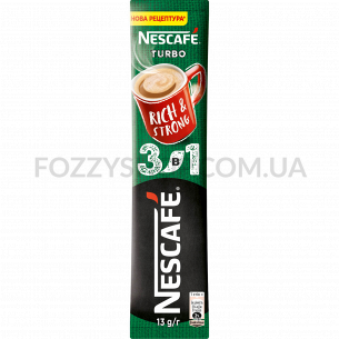Напиток кофейный Nescafe Turbo микс 3в1 растворим