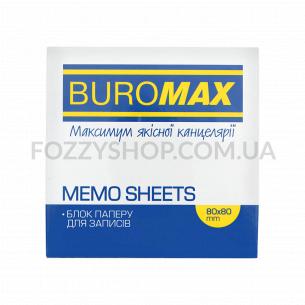 Блок бумаги для заметок Buromax Зебра 80х80х20мм