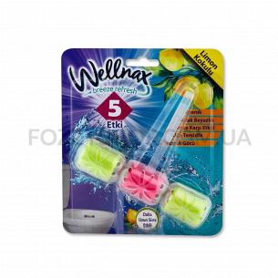 Блок для унитаза Wellnax Лимон контейнер 3 ячеек