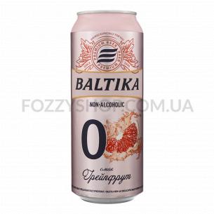 Пиво Балтика 0 грейпфрут безалкогольное ж/б