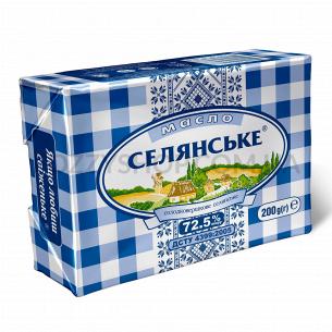 Масло сладкосливочное Селянське 72,5%