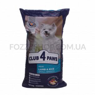 Корм для собак Club 4 Paws ягненок-рис сухой