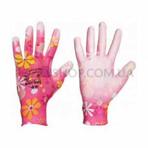 Перчатки Doloni трикотажные нейлоновые розовый