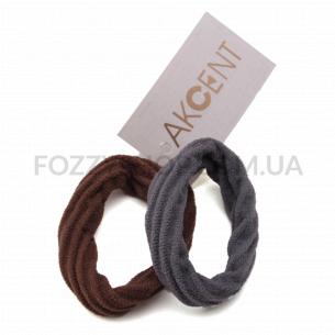 Набор резинок для волос Akcent бесшовные, 2 шт. Р1120