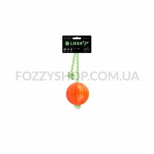 Мячик Liker Lumi на шнуре диаметр 7см