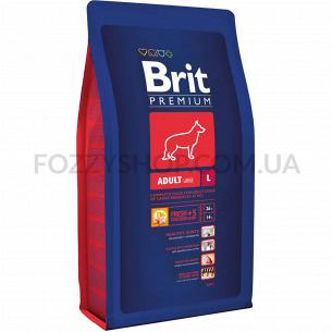 """Корм сухой Brit Premium """"Adult L"""" для взрослых собак крупных пород, с курицей"""